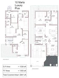 Home Design 2d House Plan Cad Drawings In Addition 10 Marla House Plan On 2d Autocad