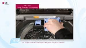 lg top load washer detergents and additive usage tips youtube