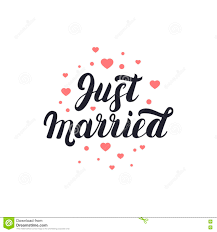just married cards just married lettering with hearts background for wedding