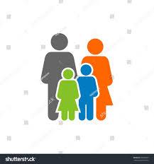 family human figure logo template stock vector 699039235