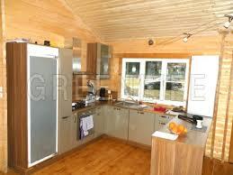 cuisine chalet bois maison bois louisa 140 maison bois greenlife