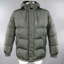 Green Parka Jacket Mens Prada Men U0027s 44 Green Quilted Detachable Hood Puff Parka Jacket For