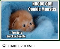 Cookie Monster Meme - noooooo cookie monster are not a i snicker doodle om nom nom nom