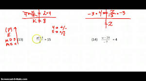 2 step equations worksheet 3 youtube