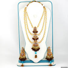 silver jewellery necklace sets images Gold plated silver rani haar 816 00 necklace sets indian JPG