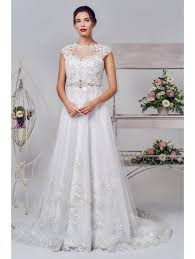 lace top wedding dress gowns 16259 lace top with tulle skirt wedding dress ivory