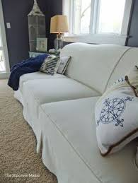 Custom Sofa Slipcovers by Custom Made Linen Slipcover For Faded And Outdated Sleeper Sofa