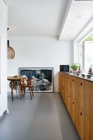 Kitchens Interiors Lang Kj Kkenbenk Med Fronter I R Kt Eik Interiors Pinterest