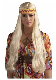 hippy headband hippie wig w headband