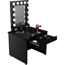 Bedroom Makeup Vanity With Lights Imposing Brilliant Vanity Mirror With Lights For Bedroom Best 25