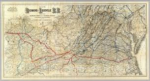 Shortest Route Map by Map Richmond And Louisville R R David Rumsey Historical Map