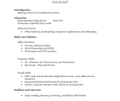 student resume exle internship resume format for freshers college student