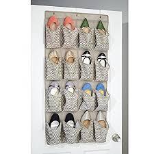 mdesign chevron fabric closet storage organizer for shoes sandals