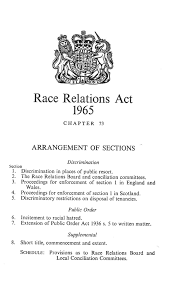 how to write a briefing paper the race relations act 1965 blessing or curse institute of leading up to the act rra65