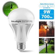 light sensor light bulbs motion sensor light bulb 9w radar motion detector light smart led