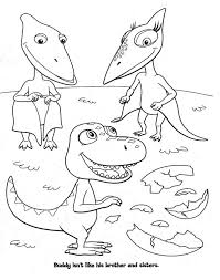 dinosaur train coloring pages buddy don shiny coloringstar