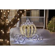 home accents holiday 5 ft pre lit led twinkling carriage ty499