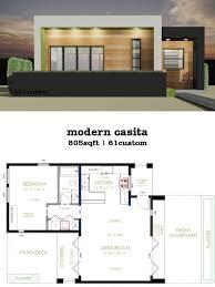 modern 1 house plans casita plan small modern house plan modern house plans small