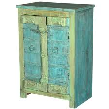 Amish End Tables by Reclaimed Old Wood Amish Metal Accent Storage Cabinet End Table