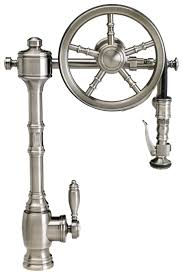 waterstone wheel pulldown kitchen faucet 5100 finish is antique