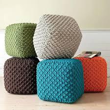 Crochet Ottoman Ottoman Knit Ottoman Pouf Knitted Pouf Ottoman Pattern Free