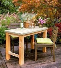 Build Outdoor End Table by Patio Serving Table Foter