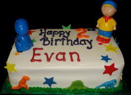 caillou birthday cake birthday cakes sugar showcase