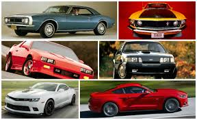 camaro vs challenger vs mustang 50 years of camaro vs mustang sales figures in living color
