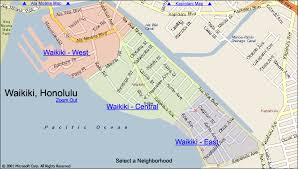 map of waikiki waikiki condo map honolulu oahu hawaii
