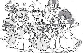 mario luigi free coloring pages coloring