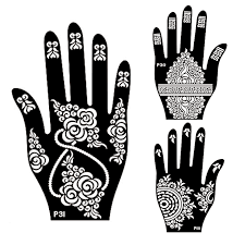 aliexpress com buy 1pair 2pcs left right hand mehndi henna