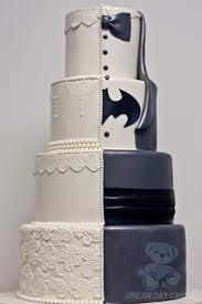 batman wedding cake with lace bearkery bakery