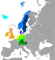 Language Map Of Europe by Classification Of The Germanic Languages Spoken In Europe