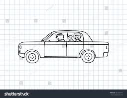 car drawing car drawing on squared paper stock vector 367293176 shutterstock