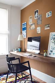 diy a custom office wall for a cute home office space corkboard