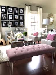 this pink tufted bench from homegoods really makes my living room this pink tufted bench from homegoods really makes my living room stand out don
