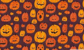 halloween pumpkins pattern 4k hd desktop wallpaper for 4k ultra