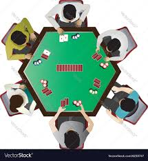 Table Top Poker Table Casino Furniture Poker Table Top View Set 10 Vector Image