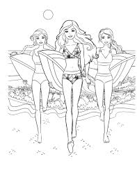 95 barbie surfing coloring page download coloring pages