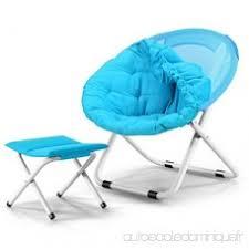 chaise de bureau ronde portable fauteuil de bureau avec chaise pliante réglable adulte lune