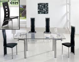 Black Glass Extending Dining Table 6 Chairs Extending Black Glass Dining Table And 6 Chairs Set I38 For Your
