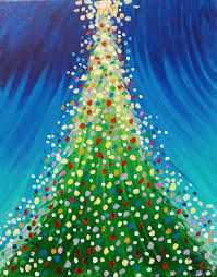 christmas tree eiffel tower wine paint u0026 create hope mills