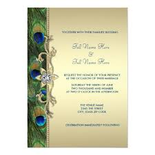 peacock wedding invitations emerald green and gold peacock peacock wedding invitations