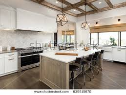 kitchen interior pictures kitchen luxury home white cabinetry stock photo 553183972