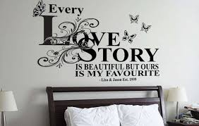 love story personalised wall decal sticker cusomt wall decals love story personalised wall decal sticker