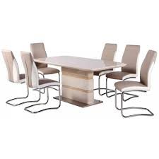 White Gloss Dining Tables And Chairs Dining Tables Mace High Gloss Extending Dining Table Chair Set