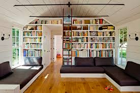 reading room in a home that only measures 540 square feet located