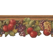 Home Decor By Color York Wallcoverings Inspired By Color Fruit U0026 Ivy Wallpaper Border