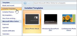 apply a template to your presentation powerpoint