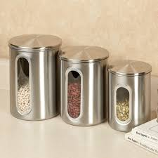 kitchen stainless steel canisters with stainless canister set